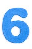 Dígito seis da espuma Fotografia de Stock