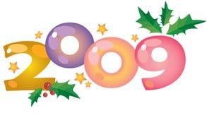 Dígitos 2009 do ano novo Imagens de Stock Royalty Free