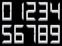 dígitos 3d Imagenes de archivo