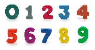 Dígitos aislados 0 a 9 foto de archivo