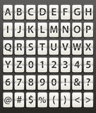 Dígitos ajustados Imagem de Stock Royalty Free