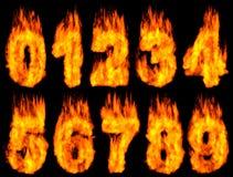 Dígitos ardientes Imágenes de archivo libres de regalías
