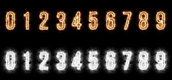 Dígitos ardientes Fotografía de archivo libre de regalías