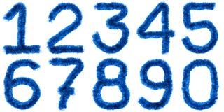 Dígitos azuis fotografia de stock royalty free