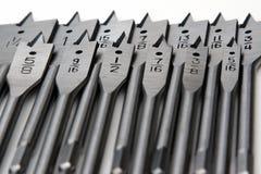 Dígitos binarios de la paleta de los carpinteros Fotografía de archivo libre de regalías