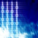Dígitos binarios y octetos stock de ilustración