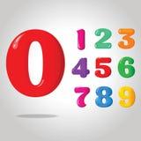 Dígitos brillantes del color imagen de archivo