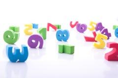 Dígitos coloridos Imagem de Stock