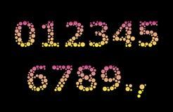 Dígitos da bolha Fotos de Stock Royalty Free