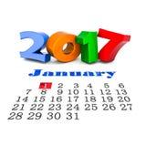 Dígitos da imagem da ilustração do ano novo 3D Imagens de Stock Royalty Free