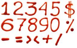 Dígitos da ketchup Ilustração Stock