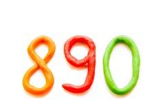 Dígitos da massa de modelar (sinais, letras) foto de stock royalty free