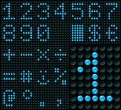 Dígitos da matriz de pontos Imagem de Stock