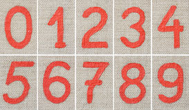 Dígitos da pintura de petróleo Imagens de Stock