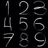Dígitos de Freezelight fotografia de stock royalty free