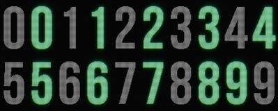 Dígitos de incandescência pontilhados Fotografia de Stock