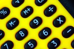 Dígitos de la calculadora fotos de archivo