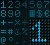 Dígitos de la matriz de puntos Imagen de archivo