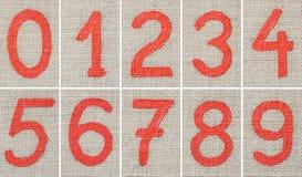 Dígitos de la pintura de petróleo Imagenes de archivo