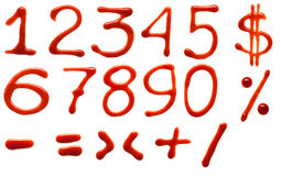 Dígitos de la salsa de tomate Imagen de archivo