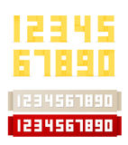Dígitos de Origami Imagem de Stock