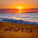 Dígitos del Año Nuevo 2015 Imagenes de archivo