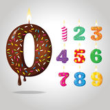 Dígitos del cumpleaños del caramelo del color fotos de archivo