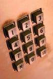 Dígitos del telclado numérico Fotografía de archivo