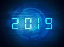 Dígitos do ano novo 2019 imagem de stock