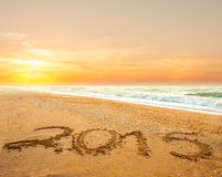 Dígitos do ano novo 2015 Imagem de Stock Royalty Free