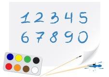 Dígitos do desenho Imagens de Stock