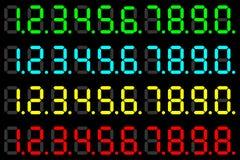 Dígitos do diodo emissor de luz Foto de Stock Royalty Free