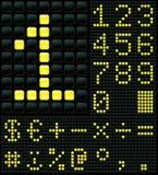 Dígitos e símbolos Fotografia de Stock