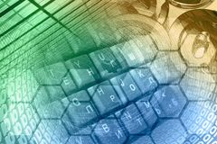 Dígitos e teclado foto de stock royalty free