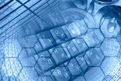 Dígitos e teclado imagens de stock royalty free