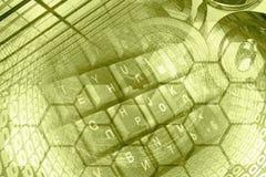 Dígitos e teclado fotografia de stock royalty free