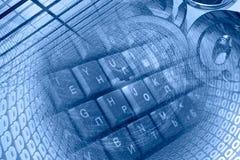 Dígitos e teclado fotos de stock royalty free