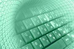 Dígitos e teclado foto de stock