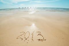 Dígitos na areia Fotografia de Stock Royalty Free