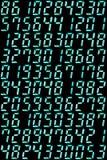 Dígitos retros ilustração do vetor