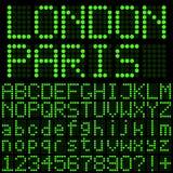Dígitos verdes del LED Fotografía de archivo libre de regalías