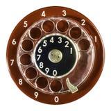 Dígitos vermelhos do telefone do vintage imagem de stock