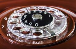 Dígitos vermelhos do telefone do vintage fotos de stock royalty free