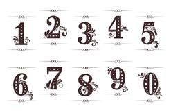 Dígitos y números de la vendimia Foto de archivo libre de regalías