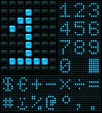 Dígitos y símbolos Imágenes de archivo libres de regalías
