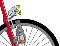 Dínamo en una bicicleta Foto de archivo