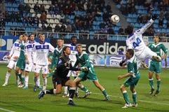 Dínamo Kyiv de FC contra FC Obolon Imagens de Stock