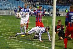 Dínamo Kyiv de FC contra FC Sevastopol Foto de archivo
