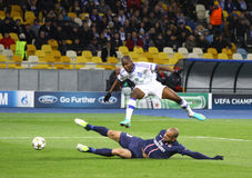 Dínamo Kyiv do jogo da Champions League do UEFA contra PSG Imagem de Stock Royalty Free