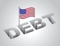 Dívida pública de Estados Unidos ilustração do vetor
